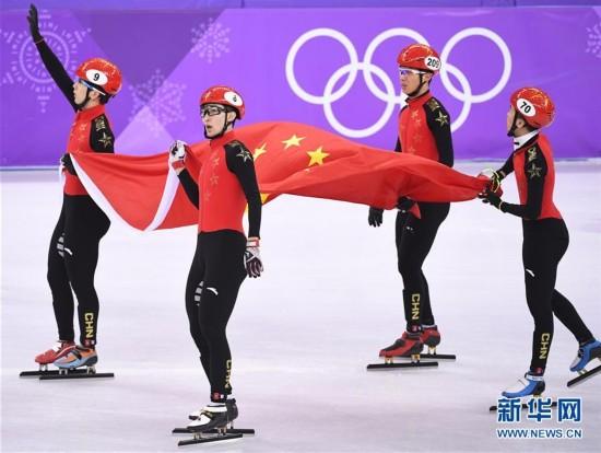 赞!短道速滑男子5000米接力,中国队获银牌