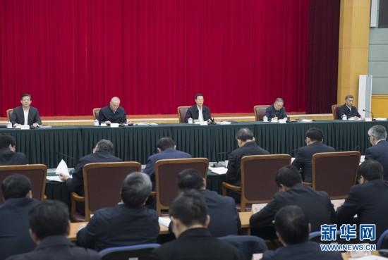 2月25日,京津冀协同发展工作推进会议在北京召开。国务院副总理张高丽主持会议并讲话。 新华社记者 王晔 摄