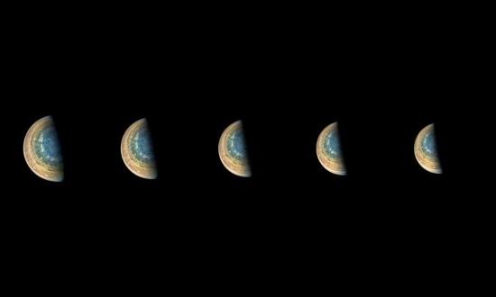 北京赛车手机app安卓版:木星南极前所未见景象曝光_蓝色漩涡迷人