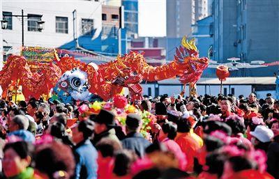 新春庙会年味浓传统文化呈异彩