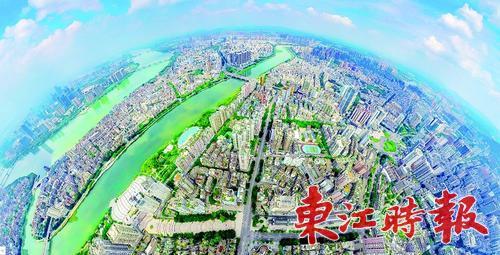 """惠州市区建成区30年""""长大""""23倍"""