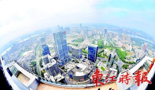 惠城区江北片区是高端商业集中区域,名副其实的CBD。