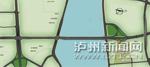 沱江五桥示意图