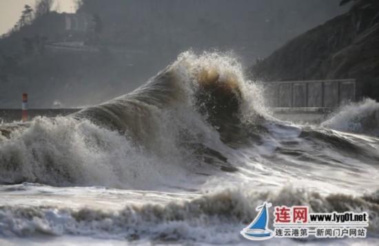 连云港出现大风降温天气 最低气温仅为1℃