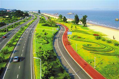 风景秀丽的环岛路