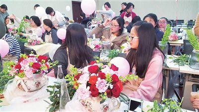 多數女性愛鮮花 海門市民買花裝點生活趨日常