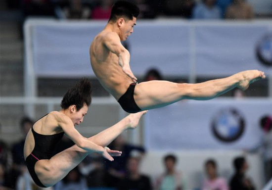 In pics: mixed 10m synchronised final at FINA Diving World Series 2018