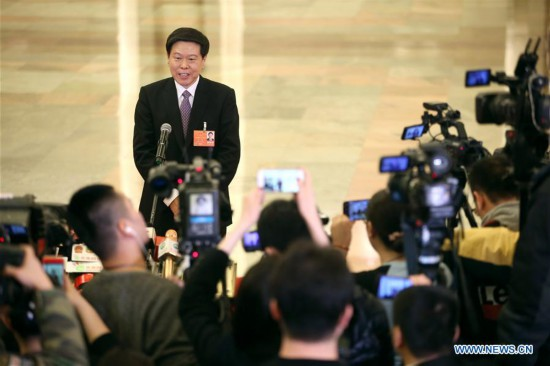 In pics: Interview after 4th plenary meeting of 1st session of 13th NPC