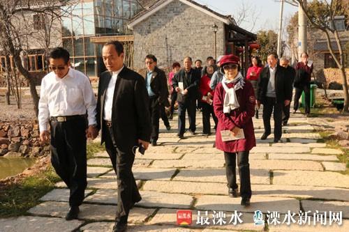 部队老首长和雷锋生前战友参观南京溧水李巷