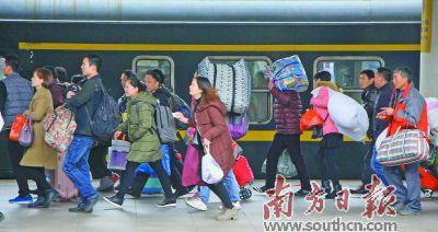 广州地区春运发送旅客3056万人次