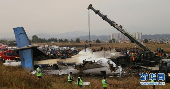 (国际)(1)孟加拉国客机尼泊尔降落起火已致至少49人遇难