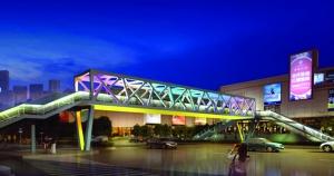 南京洪武路天桥五一回归 简洁大气新增扶梯