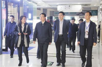 江苏副省长郭元强调研叠石桥 单晓鸣等陪同