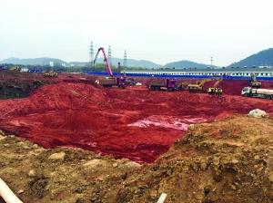 南京江宁金茂青龙山一项目被曝无证施工