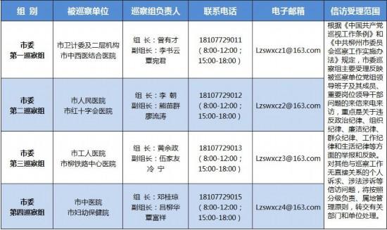 柳州:派出4个巡察组对医疗卫生领域开展专项巡察