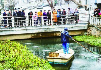 南京建邺区人大代表关注河道治理 监督治水
