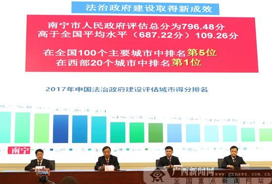 南宁推进法治政府建设成效大 城市评估全国第五