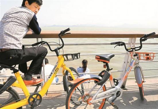 """深圳共享单车沦为""""牛皮癣单车"""""""