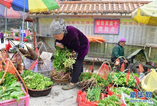 广西侗乡:诚信菜篮子 自助20年