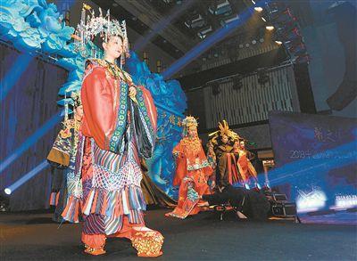 中国服饰文创造型展示南京开幕 华服惊艳世人