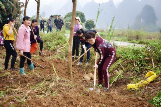 潘东副主任带队到兴华村开展兴水利、种好树、助脱贫、惠民生活动