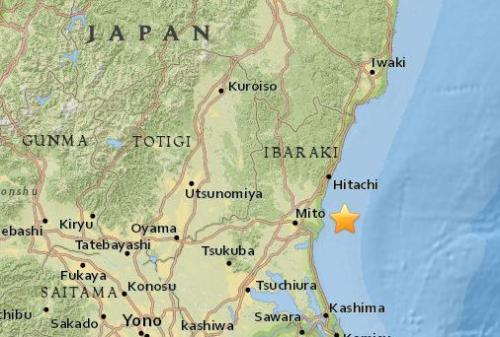 日本东部海域发生5.0级地震 震源深度41.1公里