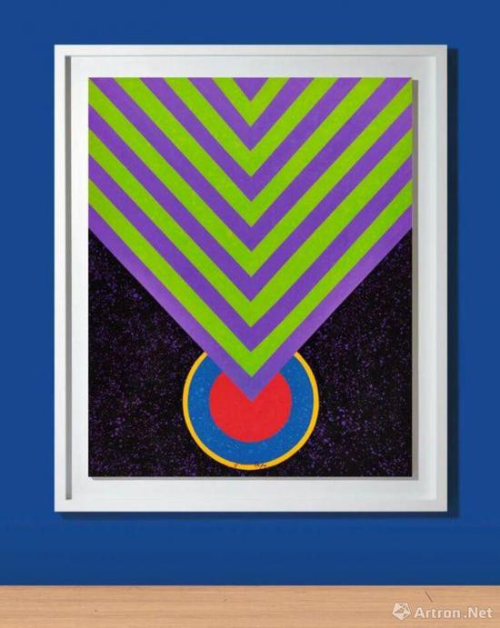 萧勤《 冥想的能量》压克力彩画布 160x130cm 1964年作 成交价:756万港元
