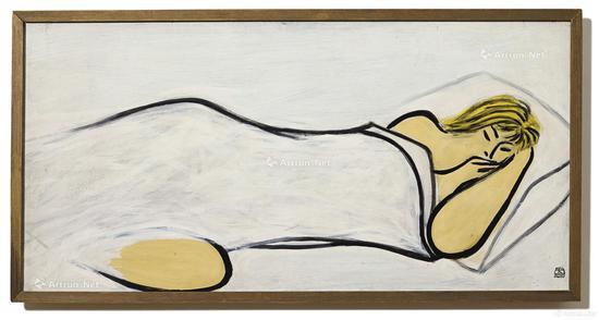 常玉 《睡美人》 油彩木板 50x100cm 1950年代作 成交价:4687.75万港元