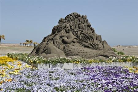 宫崎市 临海公园 鲜花 雕像