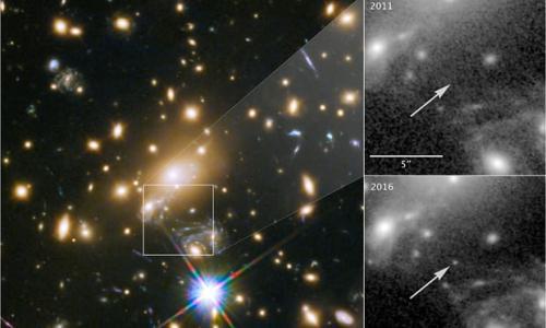 半个宇宙外闪耀:科学家观测到迄今最遥远恒星(图)