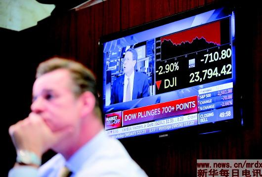 美股暴跌回应特朗普政府对华再征税威胁