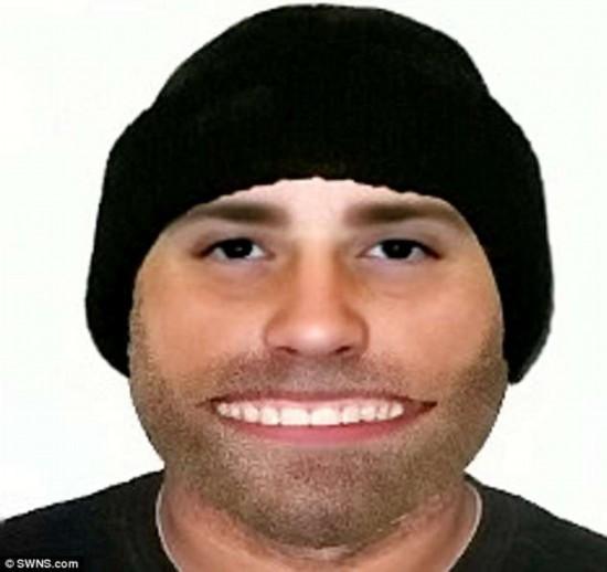 英警方发布盗窃者电子画像 神似大嘴动画猫(图)