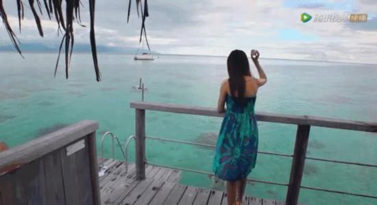 娄艺潇居然带闺蜜来到这座蜜月海岛!