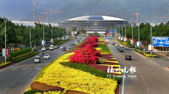 30万盆花扮靓福州会展岛