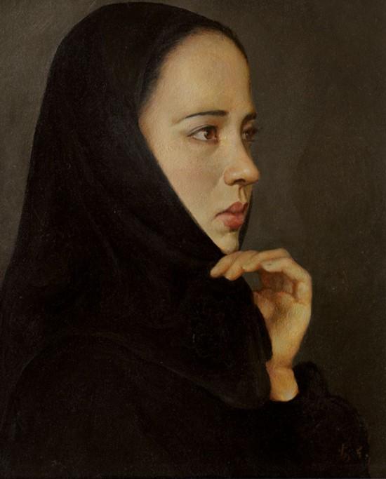 女教师马望 (布面油画)  2003年