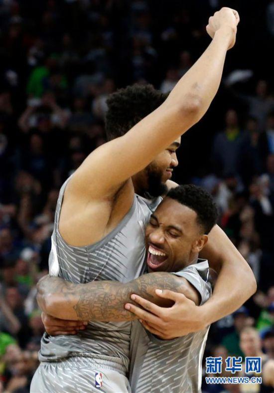 (体育)(2)篮球――NBA常规赛:森林狼胜掘金