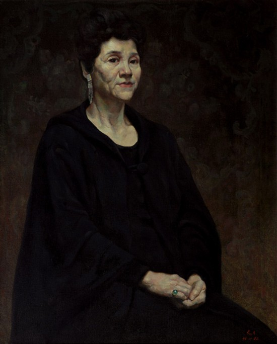 女演员肖像写生 (布面油画)  1996 年