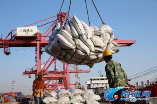 一季度南通港货物吞吐逾5800万吨 同比增4.2%