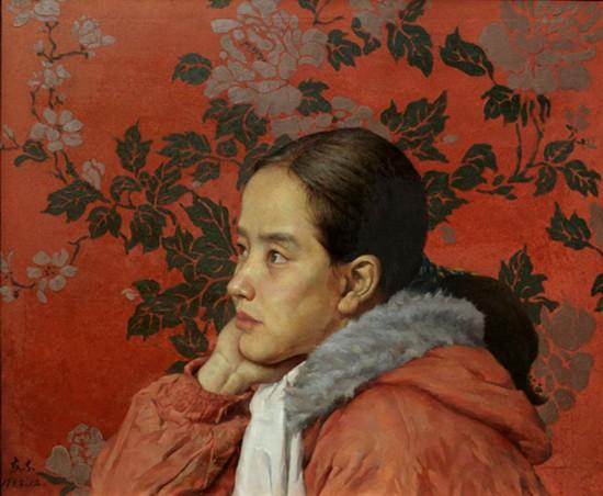 女大学生任淑芹 (布面油画) 55x46 1994 于安东