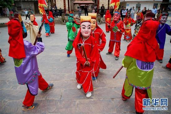 (文化)(1)江西萍乡:传承傩文化