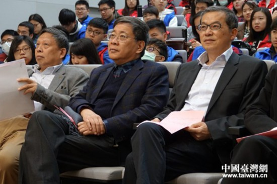 上海市政府台办主任李文辉出席此次活动(中间)。