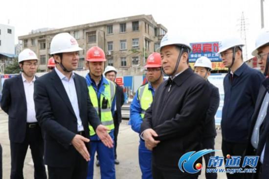 陆志鹏调研南通城市轨道1号线重要站点建设