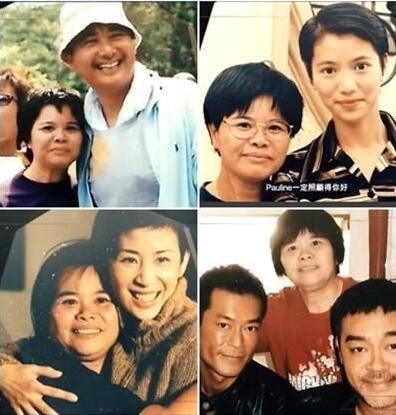 杨容莲曾与多位明星亲密合影。 图片来源:香港明报