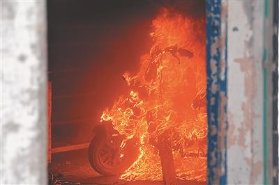 电动车火灾模拟实验