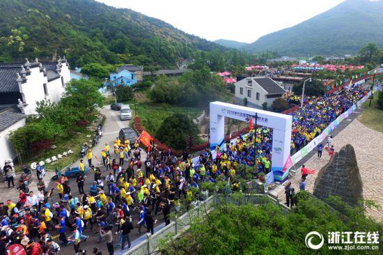 全国徒步大会!1500名徒步爱好者神行定海山