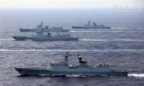 海军航母编队连续跨海区组织实兵对抗训练