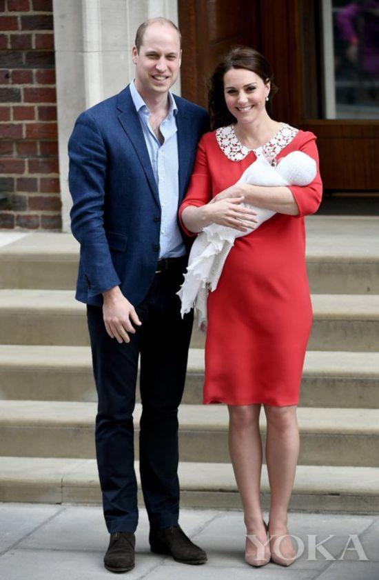 凯特身穿Jenny Packham定制款红色连衣裙(图片来源于Popsugar)