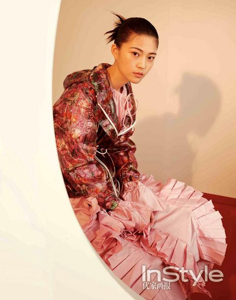 王妍之时尚大片造型百变英气勃勃率性洒脱
