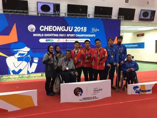 2018年世界残疾人射击锦标赛娄小龙刷新世界