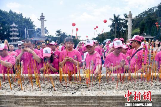近千名台商信众到广州南沙祭拜妈祖